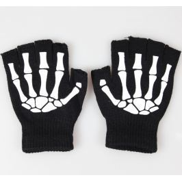 rukavice bezprsté POIZEN INDUSTRIES - BGS Gloves - Black/White